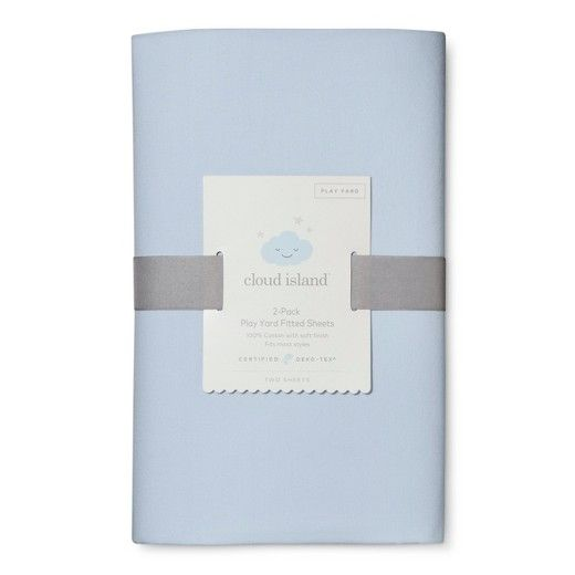 Your little one won't want to leave their playard when it's covered with the Solid Light Blue / Navy Fitted Playard Sheets from Cloud Island™. Whether it's nap time or tummy time, you can feel good knowing baby's sensitive skin is being touched by soft, breathable 100% cotton that's OEKO-TEX® certified to keep them free from harmful substances. This pack includes a soft, pale blue sheet and a navy blue sheet that both complement a variety of...