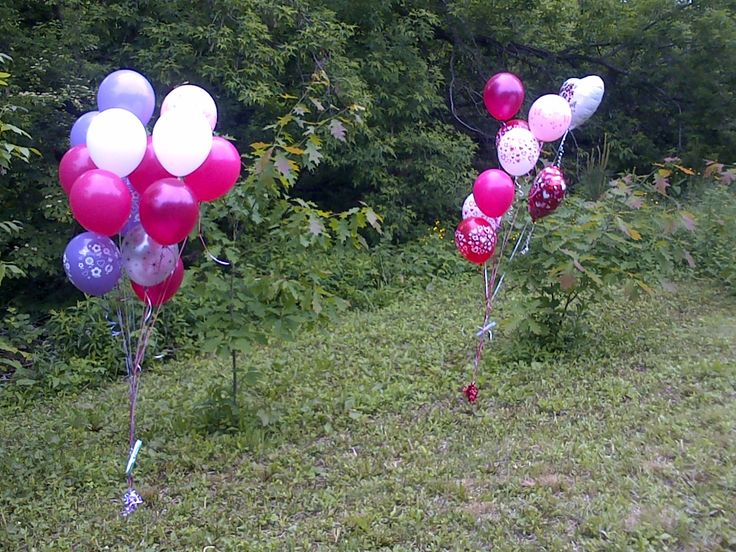 I have notes attached to the balloons .. nobody has contacted me yet ... still hoping they are found :)