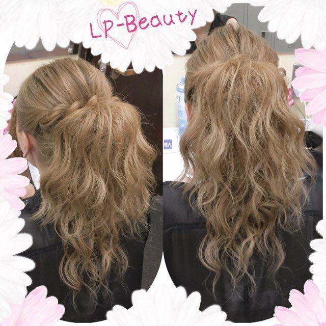 セミロングの人は長さ出しして、大人のポニーテールへ♡わかめ巻きウェーブと逆毛でボリュームコントロール(^o^)/ Ponytail that looks to the long hair!♡ #ヘアセット#ヘアアレンジ#結婚式ヘア#ハーフアップ#ヘアセット講習#編み込み#ポニーテール#簡単#ヘアメイク#アップ#巻き髪#ブライダル#hairarrange#hairstyles#bridal#braid#Wedding#ponytail#party#instahair#hairstyling#weddinghair#dutchbraid#hairstyle#curlyhair#Frenchbraid#promhair#twist#plaits#updo