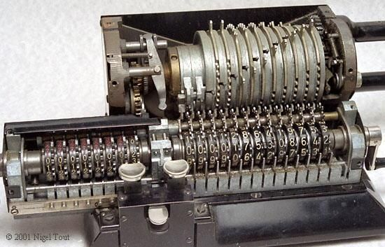 Odhner Pinwheel Calculator - invented by Willgodt T. Odhner in St. Peterburg, Russia in 1874. It was used for nearly a century.