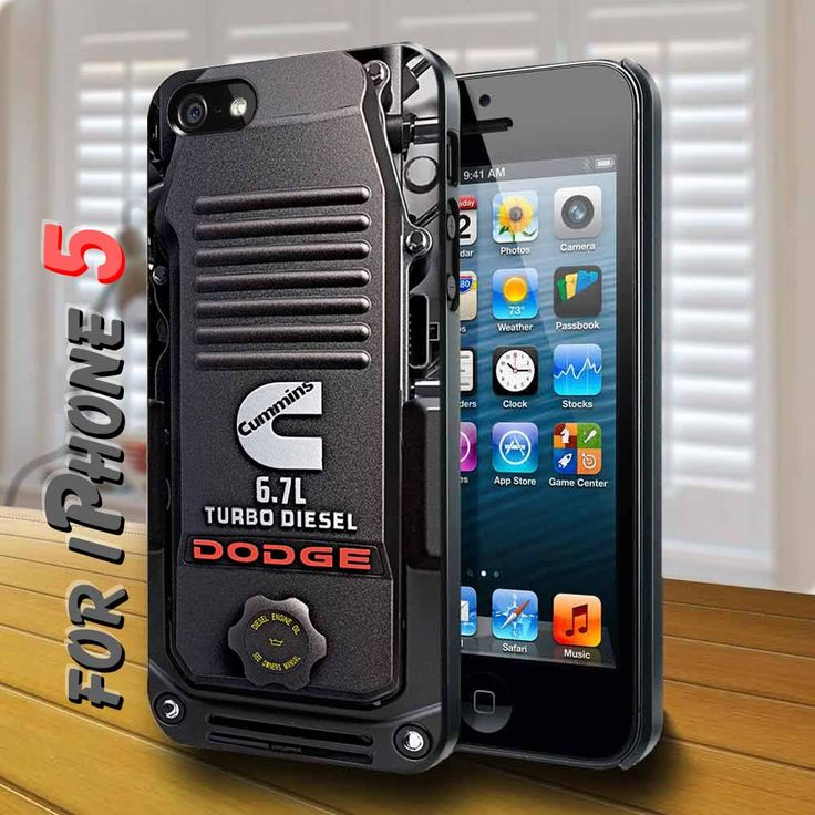 cummins turbo diesel dodge Black Case for iphone