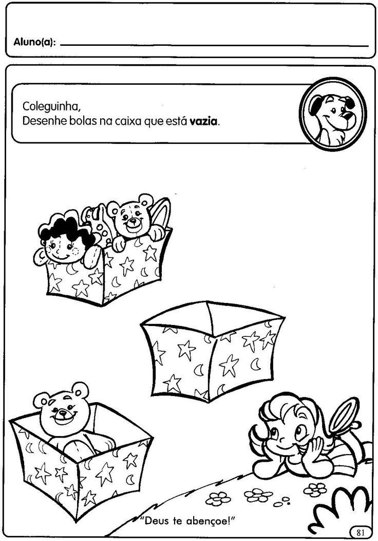 Atividades para a Educação Infantil sobre grandezas e medidas: cheio e vazio Faça Cursos Online aqui. Visite a LOJA DO ESPAÇO EDUCA...