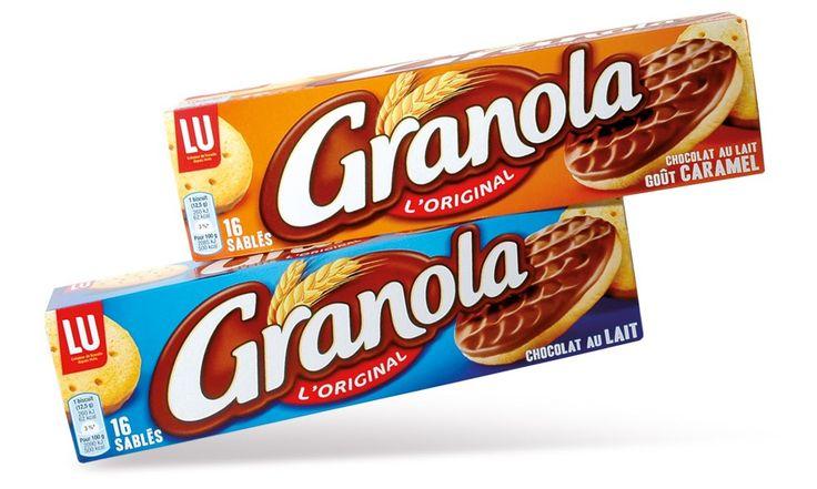 GRANOLA - La gamme des Biscuits Nappés Chocolat - Packaging Design