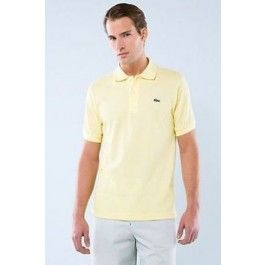lacoste men polo shirt light yellow