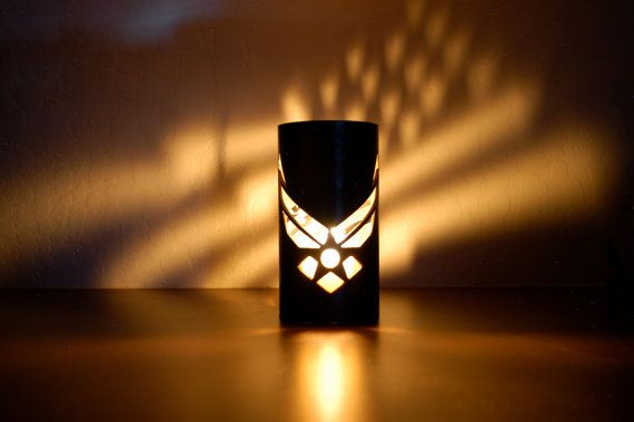 US Air Force 1003 Steel Tube Luminary by TubeTorcher on Etsy, $26.95