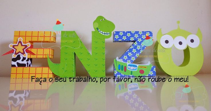 Letras 3D Toy Story - Toque de Arte by Grazi Machado                                                                                                                                                                                 Mais