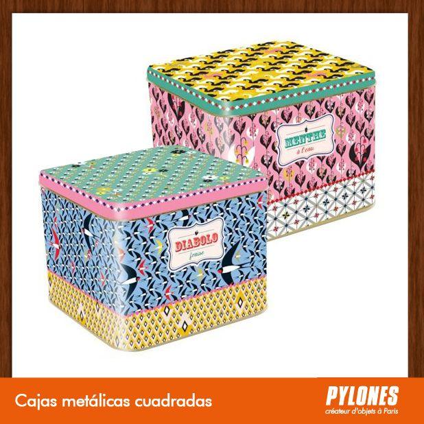 Cajas metálicas cuadradas @pylonesco Pylones Colombia #navidad #regalos #pylones #novedades #new #gifts #christmas — en Colombia.