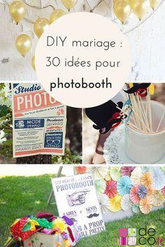 DIY mariage : 30 idées pour faire un photobooth original // http://www.deco.fr/loisirs-creatifs/photos-78715/