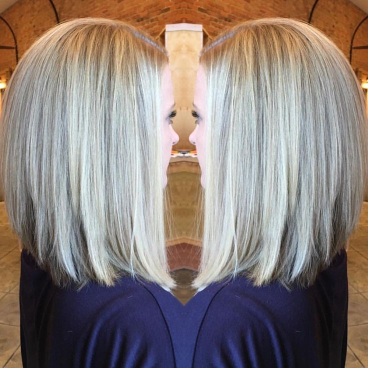 """16 Likes, 1 Comments - @amandalindler on Instagram: """"Icy blonde balayage highlights with a long inverted bob. #blondeme #framarint #hairartist…"""""""