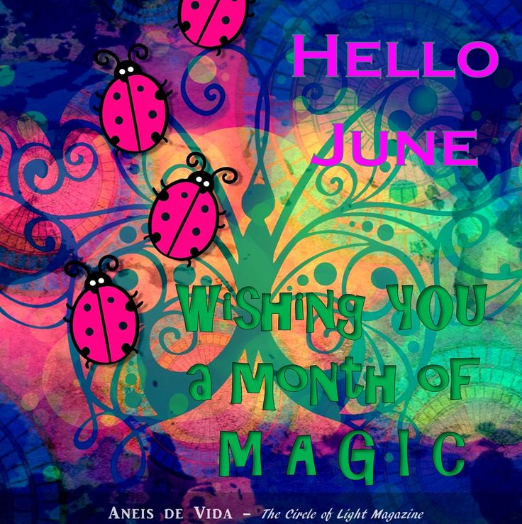 Hello the month of June  http://aneisdevida.co.za