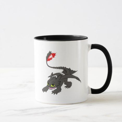 Toothless Crouch Illustration Mug How To Train Your Dragon How
