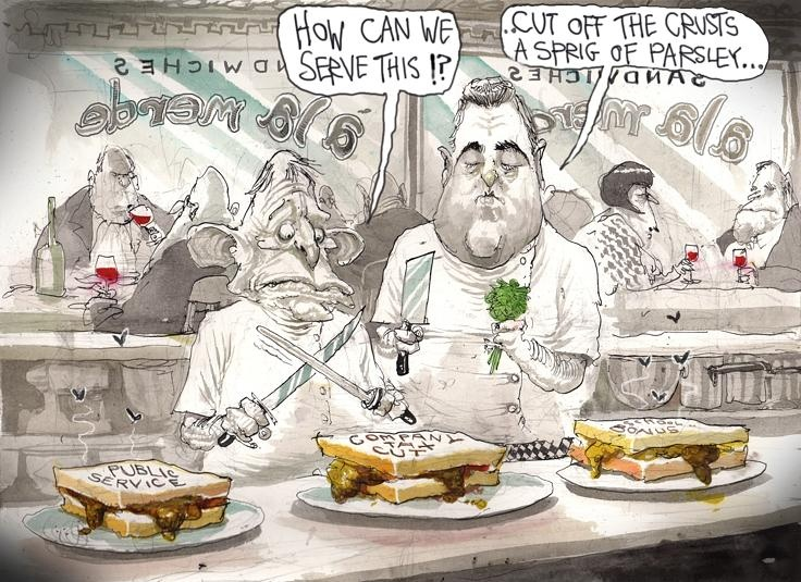 Short order cooks by David Rowe