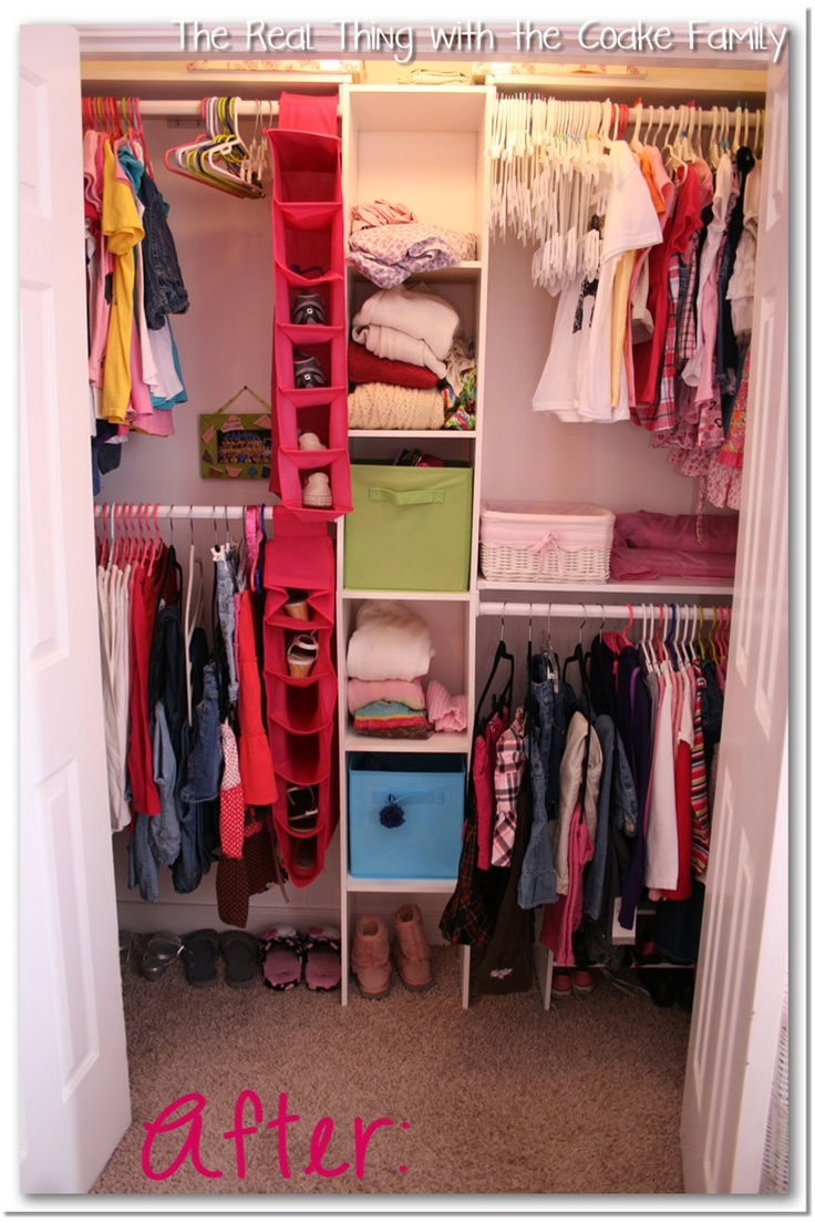 Organizing Kids Closets ~ Space saving tips and ideas #closet #organizing