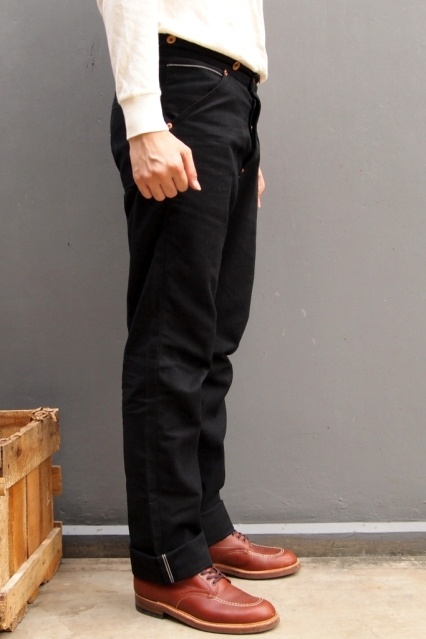 Oldblue Co. Work Pants Type I - Black Selvedge Duck