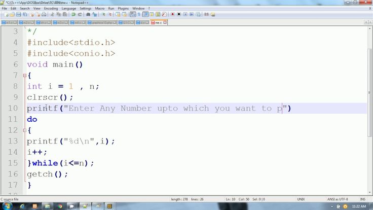 C Language in Hindi | Print All Numbers from 1 to N  |  do while loop