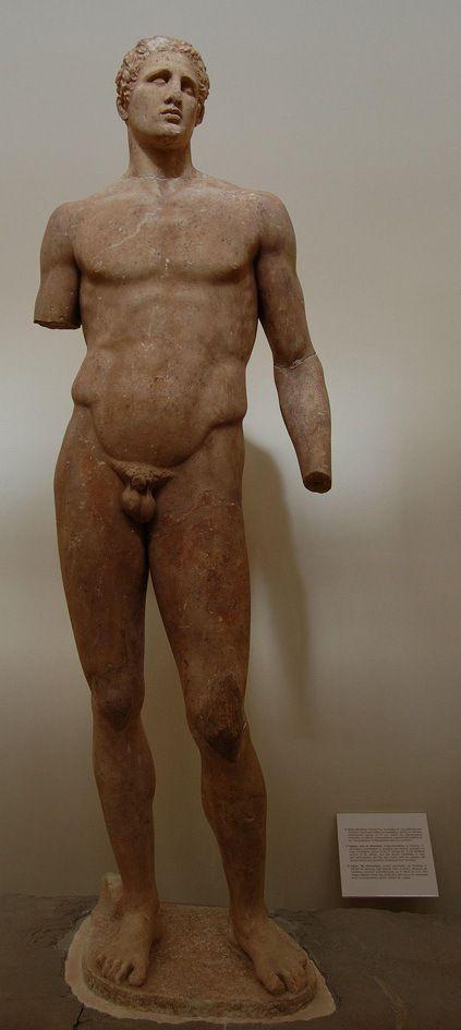 ATLETA AGIAS. Lisipo de Sición. 337 a.C. M. Delfos.