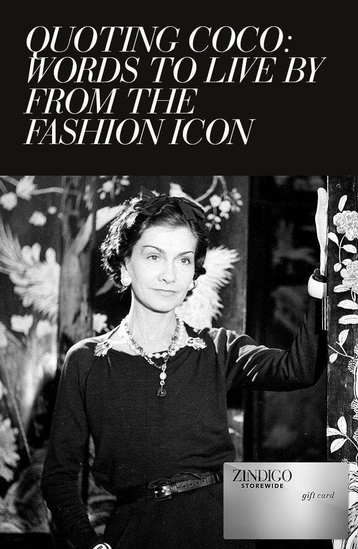 5 inspiring quotes by the late and legendary Coco Chanel. Check out some of these black dresses, elegant shoes, and envy-inducing numbers by our top designers influenced by the spirit of Chanel. Use code CHANELCC for 25% off a purchase. Valid 1/21-2/1. #zindigo #zindigodaily #coco #chanel #LBD #heels #elegance
