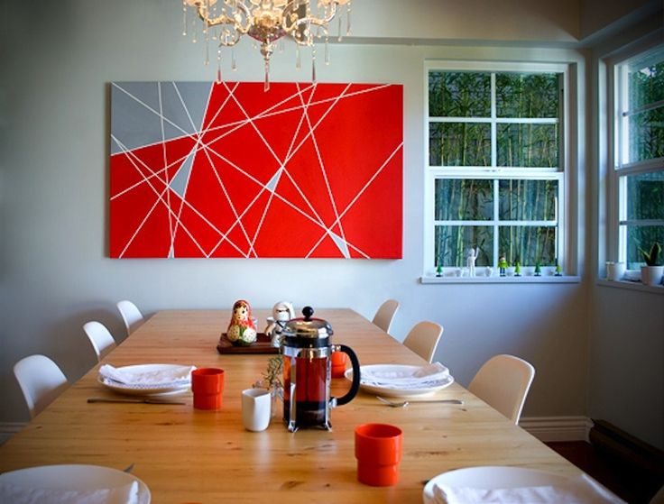 Geometric Painting    View entire slideshow: DIY Art on http://www.stylemepretty.com/collection/222/