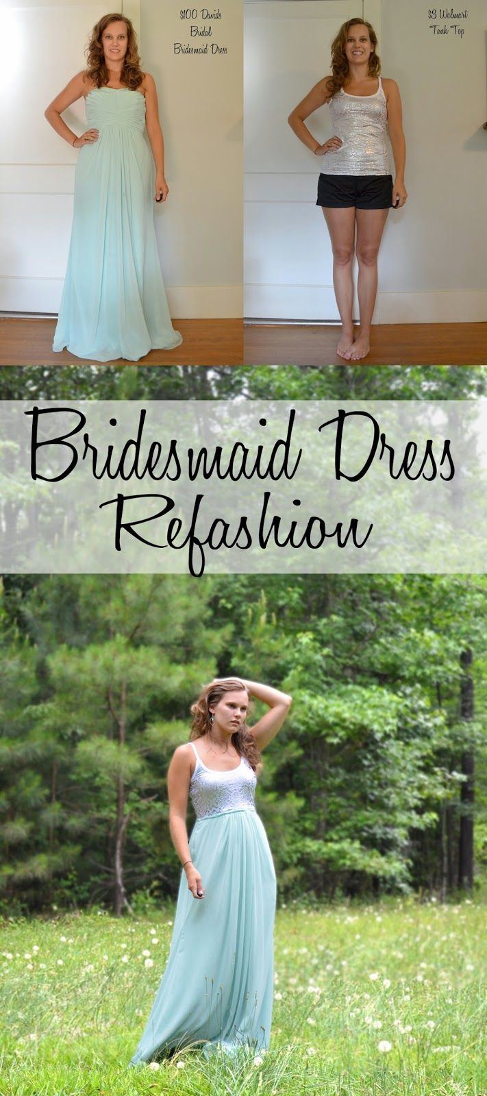 Grace Langdon Art : Davids Bridal Bridesmaid Dress Refashion