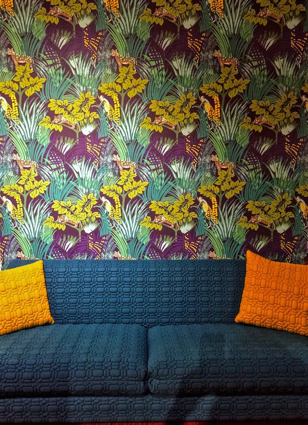 Boussac Cocoon and Pierre Frey Kipling wallpaper