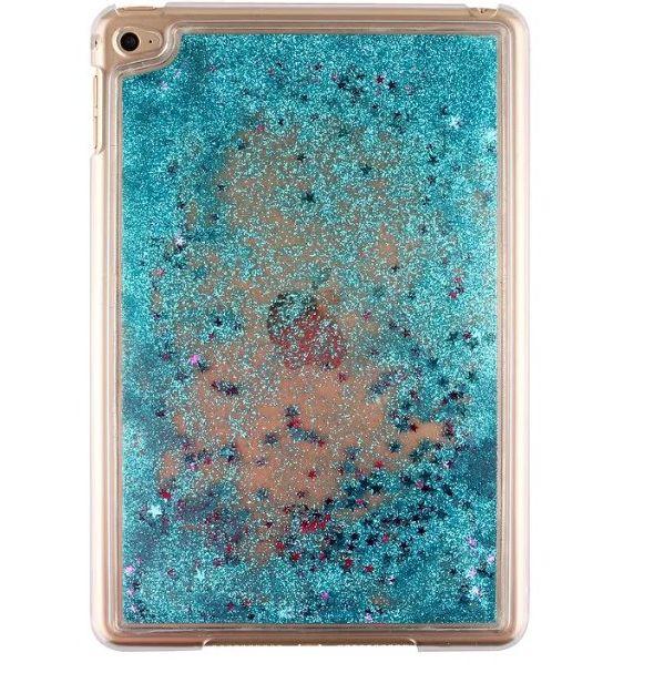 iPad Mini 4 Glitter Stars Bling Bling Liquid Hard Plastic Clear Case Cover For ipad mini 4 Quicksand Transparent Case