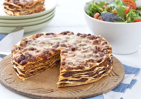 Free spicy tortilla stack recipe. Try this free, quick and easy spicy tortilla stack recipe from countdown.co.nz.