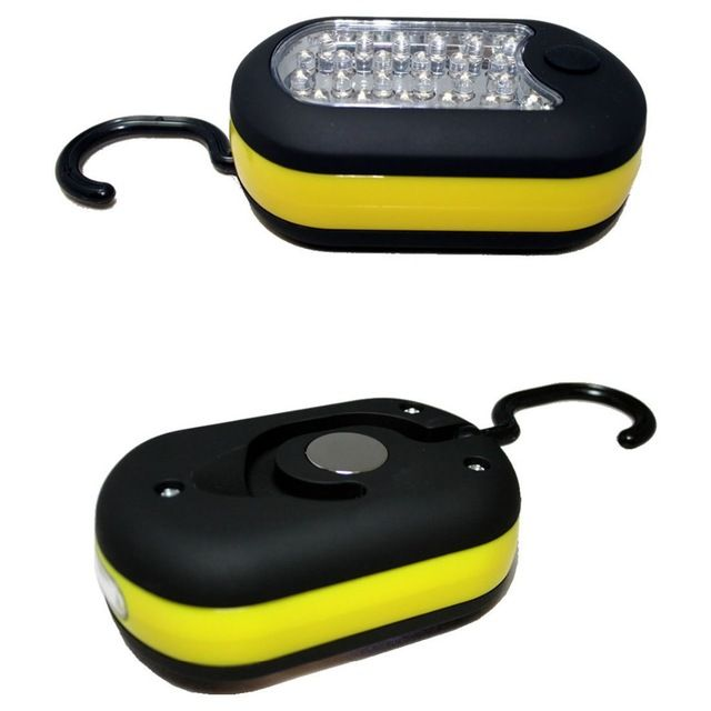 yellow Super bright 27 LED Hook Lighting led Flashlight emergency Torch work light lamp with Magnet and 2 Light Modes