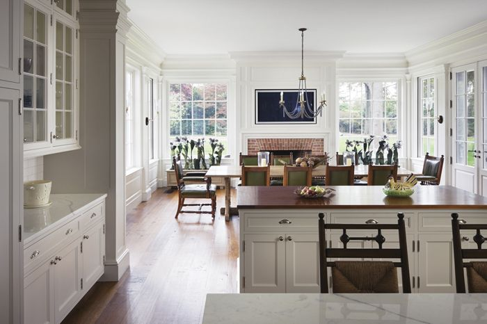 light and open kitchen/great room.  Love all the windows