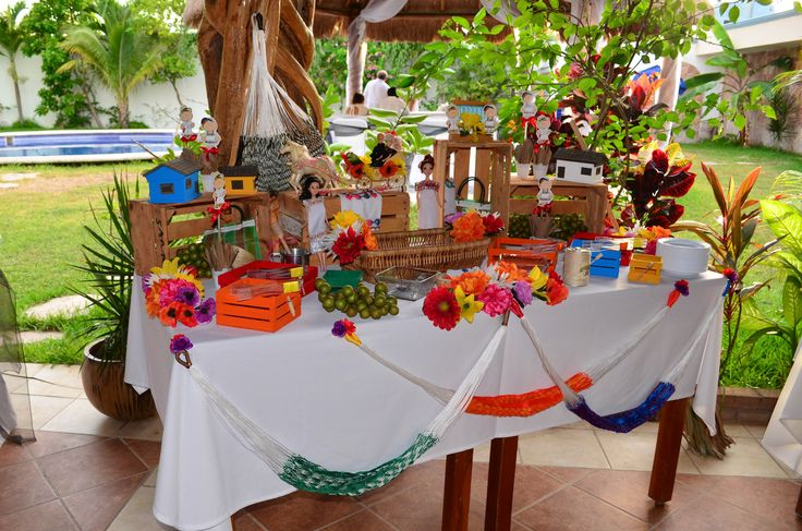 Mesa de dulces yucateca