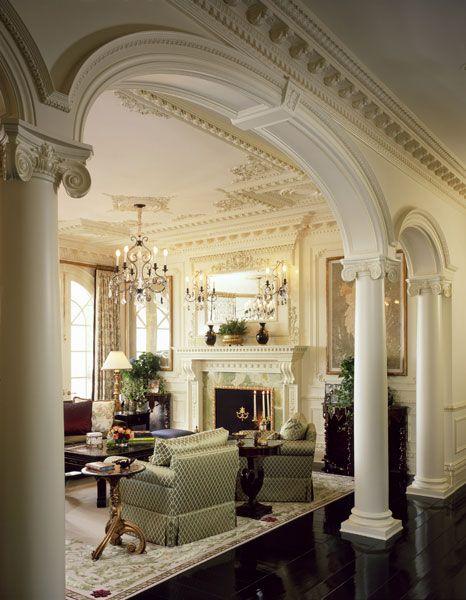 Living Room Designs With Columns : Lake sherwood estates alternate view of living room