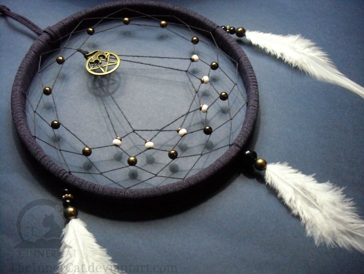 The Cat And The Pentacle Dream Catcher (Hand Made) by TheInnerCat on DeviantArt