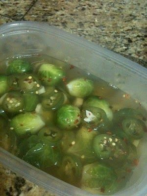 Around the World and in Our Kitchen: Spicy Pickled Brussels Sprouts