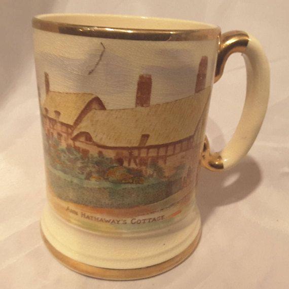 Stein Anne Hathaway's Cottage Porcelain Mug Stein by