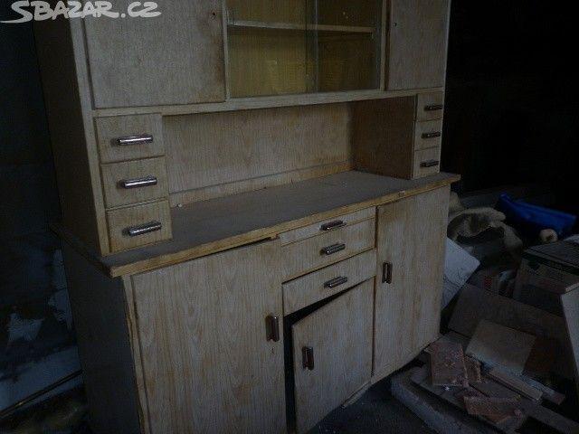 retro kuchynsky kreden dřevěny - obrázek číslo 1