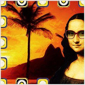 Mona na Farme - Quadrinhos confeccionados em Azulejo no tamanho 15x15 cm.Tem um ganchinho no verso para fixar na parede. Inspirado em pinturas. Para entrar em contato conosco, acesse: www.babadocerto.com.br