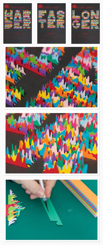 3D paper poster
