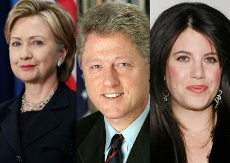 Hill, Bill & Monica. Bill sexually used Monica Lewinsky for 18 months during his Presidency and lied about it under oath. He was therefore impeached and his law license suspended. Bill lusts after any woman who is not Hillary while pretending to be happily married to and making endless campaign appearances with her. The C's lust for endless money and power and will do absolutely anything to acquire both including lying, stealing (from the WH), and masquerading.