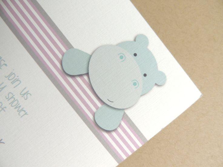Little Hippo Baby Shower Invitations Set by BackwoodDesignStudio, $43.75