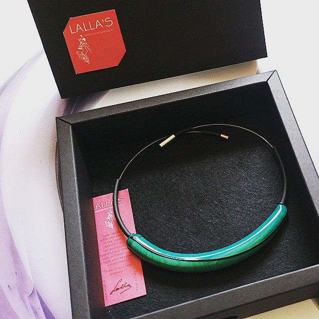 ARIA in its packaging #lallas #necklaces #designjewelry #handmadejewelry #madeinitaly #nydesign #dubaidesign #berlindesign #tokyodesign #artgalleries #conceptstores #emergingdesigner