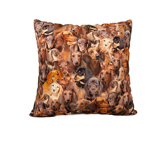 Copertura del cuscino di costine di bassotto Weiner cane cane