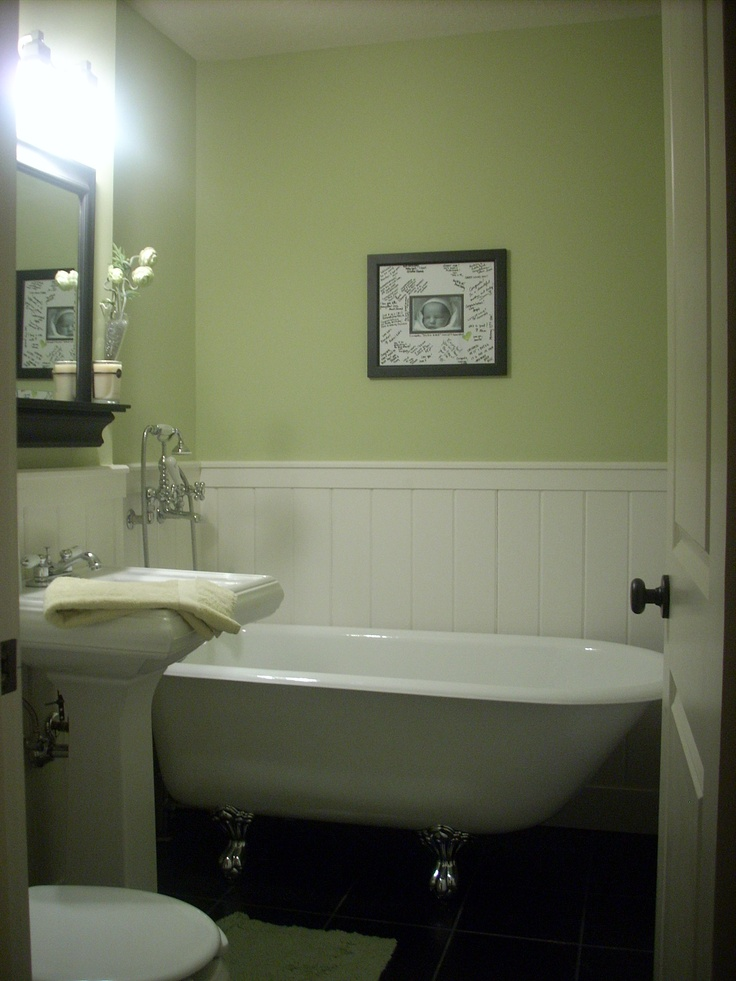 I miss my clawfoot tub interior decor pinterest for Downstairs bathroom ideas