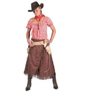 Rigtig flot og sød cowboy kjole med bluse. Skal du til western temafest, skal udklædningen også være i orden.  Temafester med samme tema kan have mange navne så som: #WildWest #party, #Western #fest, #mexicaner fest og #cowboy fest  Sættet indeholder: Kjole og bluse og findes i 2 størrelser.