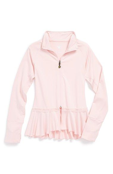 Limeapple Ruffle Jacket (Little Girls) available at #Nordstrom