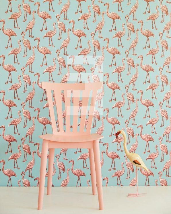 Eijffinger Script behang 347502 Flamingo | Eijffinger Script | www.behangwereld.nl