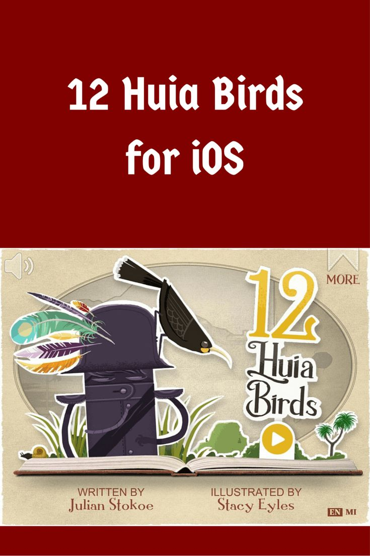12 Huia Birds from Yoozoo Books is an educational, interactive book that brings the true story of New Zealand's beautiful lost Huia bird back to life.