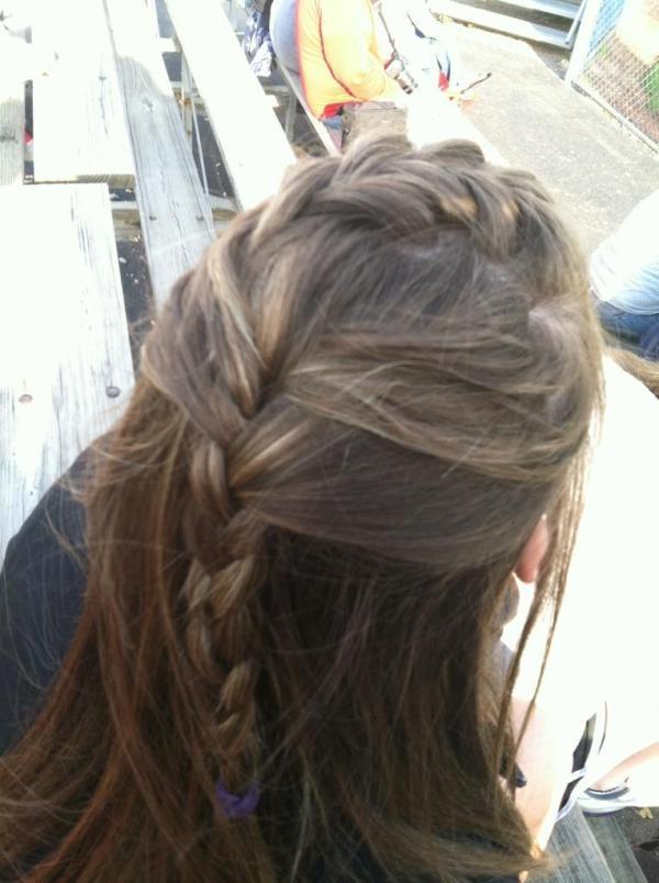 My friends hair that I diddd, (:: My Friend