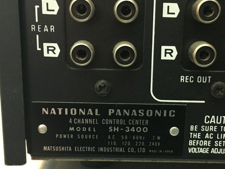 National Panasonic SH-3400 Vintage Stereo Hi-Fi Separate Rare in Sound & Vision, Home Audio & HiFi Separates, Amplifiers & Pre-Amps | eBay!