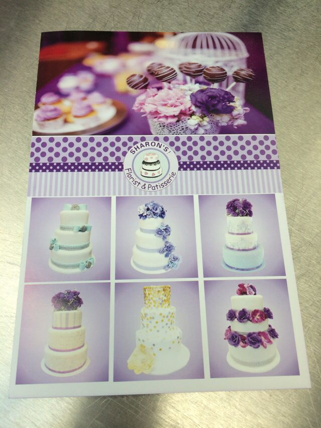 New Flyer for my cake & flower creations