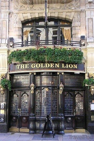 The Golden Lion Pub - London, England. This is a lovely pub to visit.