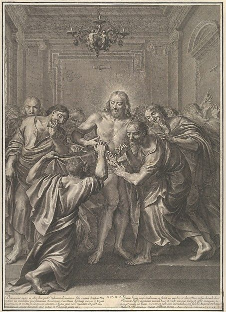 Grégoire Huret   Doubting Thomas, from The Passion of Christ, plate 28   The Met